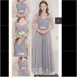 tulle and chantilly Dresses - Stormy Blue formal/bridesmaid  dress